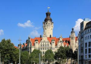 Neues Rathaus Leipzig - Standort der Pleißenburg, dem Ort der Leipziger Disputation