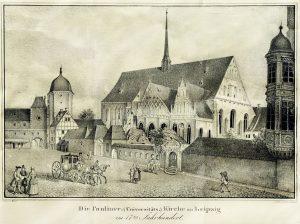 Die Paulinerkirche in 17. Jahrhundert