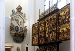 Altar und Epitaph in der Universitätskirche St. Pauli zu Leipzig