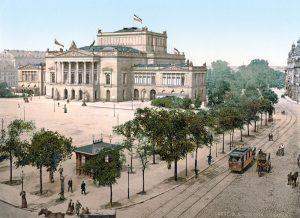 Neues Theater Leipzig am Augustusplatz um 1900