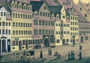 """Der Gasthof """"Zu den drey Schwanen"""" am Leipziger Brühl"""