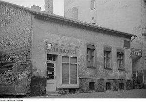Geburtshaus von Karl Liebknecht in Leipzig 1951