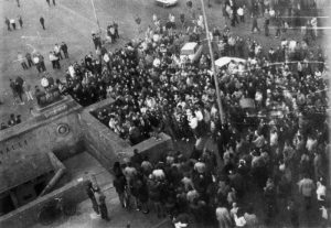 Demonstration am 15. Januar 1989 auf dem Markt