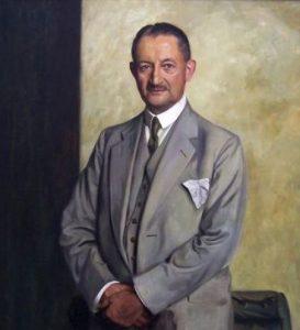 Max Richard Krüger (1873–1930), Inhaber der Firma Krügerol (Gemälde von Eugen Urban, 1928)