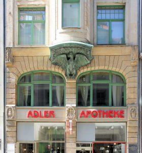 Adler-Apotheke in der Hainstraße in Leipzig (Nachfolgebau)
