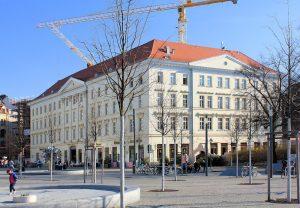 Das Haus Großer Blumenberg am Richard-Wagner-Platz