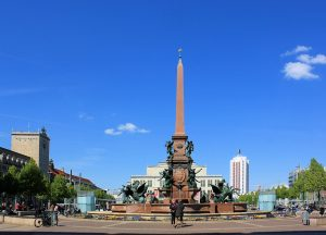 Mendebrunnen auf dem Augustusplatz Leipzig
