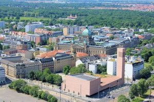 Innenstadt von Leipzig mit dem Justizpalast