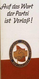 """Wahlwerbung"" der SED"