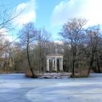 Abtnaundorf, Schlosspark mit Teich und Pavillon