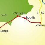 Leipzig-Elbe-Radroute, Abschnitt Dahlen - Schirmenitz/Elbe