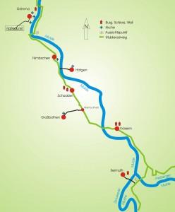 Der Mulderadweg zwischen Sermuth und Grimma