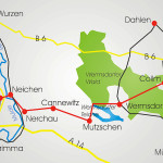 Mulde-Elbe-Radroute, Abschnitt Trebsen/Mulde - Wermsdorfer Wald