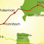 Leipzig-Elbe-Radroute, Abschnitt Wurzen - Dahlen