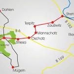 Mulde-Elbe-Radroute, Abschnitt Wermsdorfer Wald - Strehla/Elbe