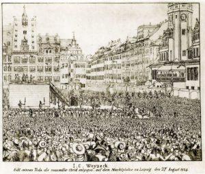Woyzecks Hinrichtung 1824 auf dem Leipziger Markt