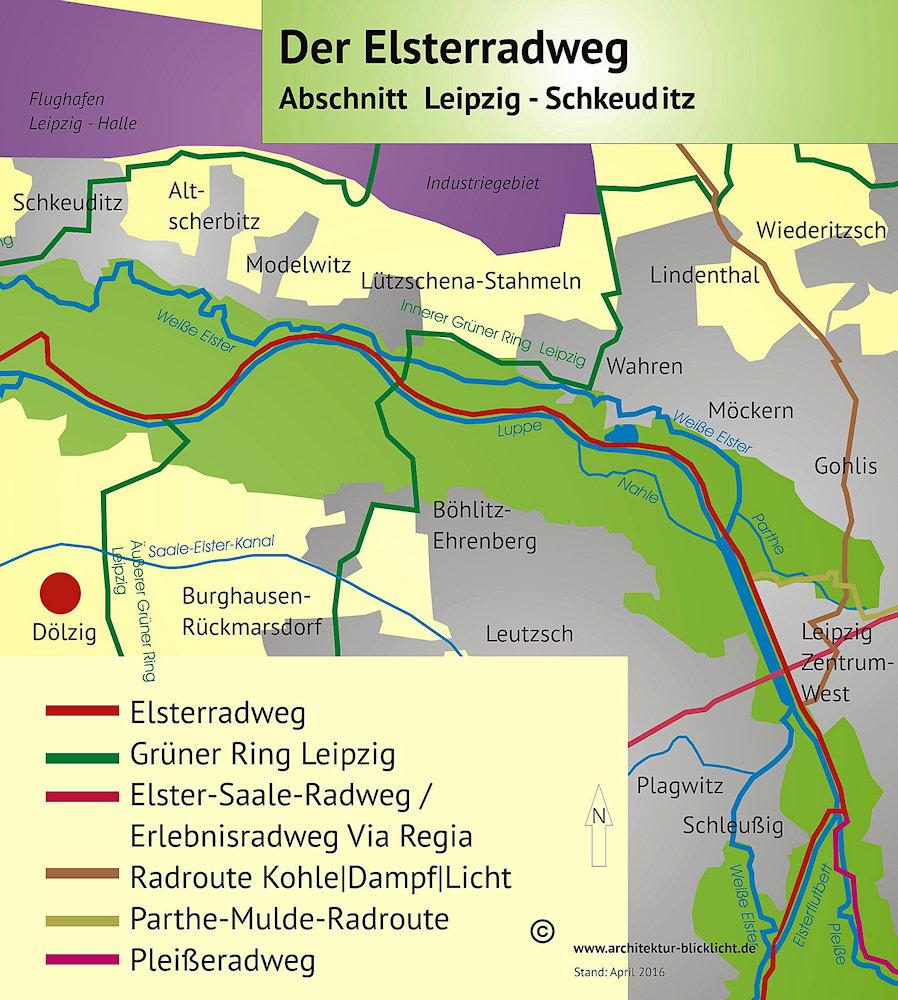 Saale Radweg Karte.Der Elsterradweg Zwischen Leipzig Und Halle Saale Artikel