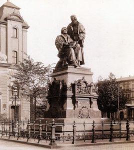 Lutherdenkmal am Leipziger Johannisplatz (1943 eingeschmolzen)