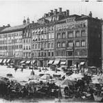 Markt-Westseite Leipzig (um 1890)