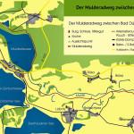 Der Mulderadweg zwischen Bad Düben und der Goitzsche