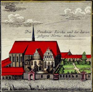 Die Paulinerkirche zu Leipzig 1749