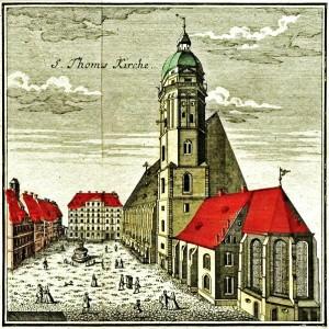 Die Thomaskirche im Jahr 1749