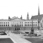 Ruine des Hauptgebäudes der Universität Leipzig und Paulinerkirche