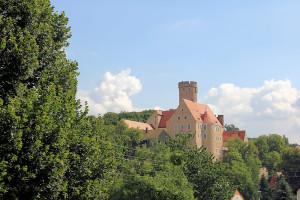 Die Burg Gnandstein im Kohrener Land an der Via Porphyria