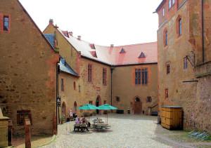 Hof der Burg Kriebstein
