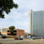Stadthalle Chemnitz und Mercure Hotel