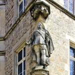 Statue Gustav II. Adolf am Rathaus in Lützen