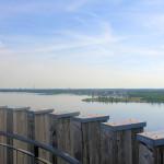 Blick vom Aussichtsturm der Bistumshöhe über den Cospudener See