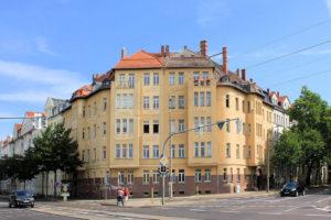 Doppelwohnhaus Wittenberger Straße 14/Theresienstraße 35 Eutritzsch