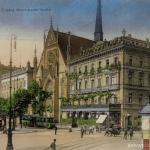 Paulinerkirche und Café Felsche 1928