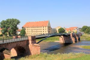 Pöppelmannbrücke und Schloss Grimma