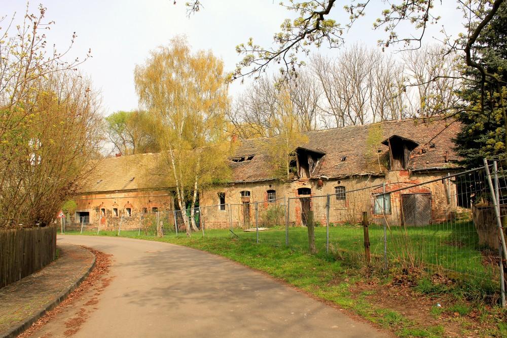 Rittergut Großzschepa, Stallgebäude, Zustand April 2014