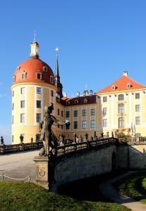 Auffahrt zum Jagdschloss Moritzburg