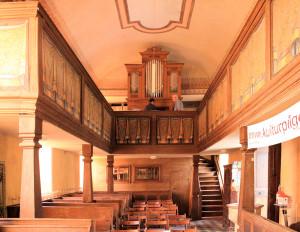 In der Kirche in Kleinliebenau