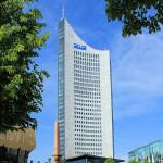 City-Hochhaus Leipzig und Mendebrunnen