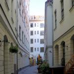 Handwerkerpassage Leipzig, Blick zur Klostergasse