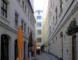 Handwerkerpassage Leipzig, Blick zum Markt