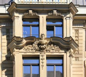 Oelßners Hof Leipzig, Merkurbüste
