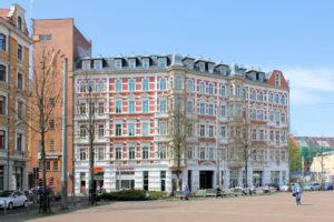 Wohn- und Geschäftshaus Lindenauer Markt 13a (Odermann-Passage)
