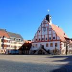 Marktplatz und Rathaus in Grimma