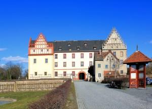 Schloss Trebsen an der Mulde zwischen Grimma und Wurzen