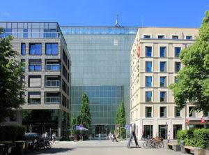 Museum der bildenden Künste Leipzig, Ansicht Eckbebauung und Museum an der Reichsstraße