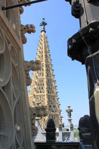 Der Turmhelm des Nordturms