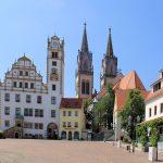 Stadtkirche und Rathaus Oschatz, Schaugiebel am Neumarkt