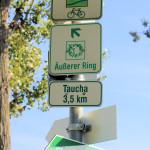 Parthe-Mulde-Radroute und Äußerer Grüner Ring Leipzig verlaufen oft auf gleicher Strecke