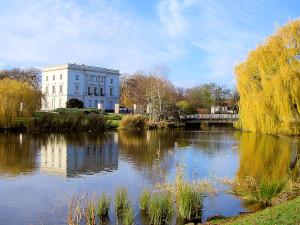 AGRA-Park Markkleeberg mit Weißem Haus
